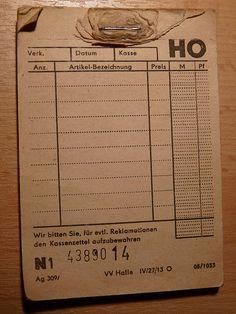 DDR receipt book by judith74, via Flickr