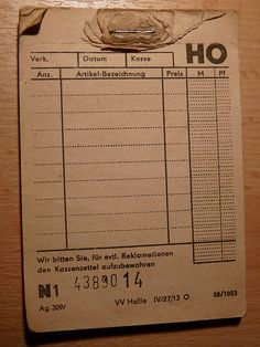 DDR receipt book by judith74, via Flickr