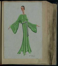 Robe Elsa, Paris 1931, copyright Patrimoine Lanvin #JeanneLanvin #Lanvin