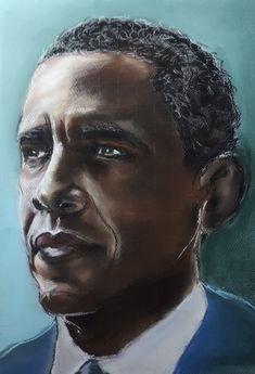 Barack Obama - pastel, 2020 Masonic Art, Barack Obama, My Arts, Pastel, African, Portrait, Cake, Headshot Photography, Portrait Paintings