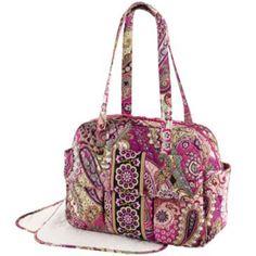 Vera Bradley Baby Bag in Very Berry Paisley