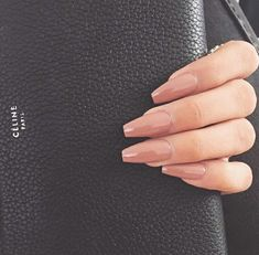 Pinterest- @LitAFOutfits Nails Long nude