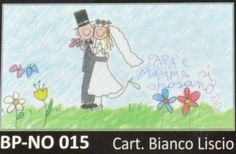 Bigliettino bomboniere matrimonio con coppia di sposi simpatici confezione da 20 pezzi
