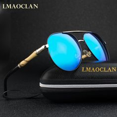 LMAOCLAN Men Vintage HD Polarized Sunglasses Classic Brand Sun glasses  Coating Lens Driving Shades With Case   Price   23.58   FREE Shipping      streetstyle ... 0e24d5db18