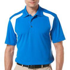 Ben Hogan Short Sleeve Mesh Insert Colorblock Polo