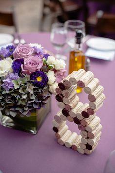 Purple wedding centerpiece idea; Featured Photographer: Viera Photographics