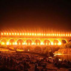 Le pont du gard. Ludolux fireworks 2012 Pont Du Gard, Far Away, Fireworks, Opera House, Europe, River, French, Building, Places