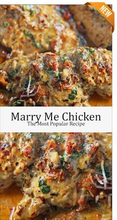 Marry Me Chicken, the foremost popular recipe - Health care - Chicken Dinner Recipes Marry Me Chicken Recipe, Recipe Chicken, Delicious Chicken Recipes, Stuffed Chicken Recipes, Simple Chicken Recipes, Garlic Chicken Recipes, Rosemary Chicken, Keto Chicken, Butter Chicken