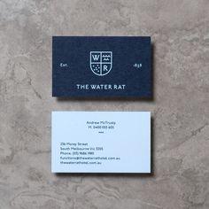 Brand identity for The Water Rat designed by Hofstede. (Business Card Restaurant Carte De Visite)