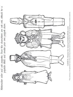 Nutcracker Print And Color Puppets Printables For Kids Free Word Search Puzzles Coloring