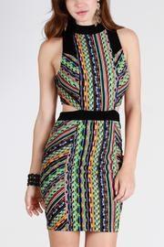 Aztec Cutout Dress