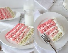 Pink Ombre Surprise Cake with Swiss Meringue Buttercream