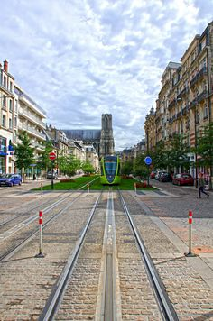 Tram in Reims, Champagne-Ardenne, France