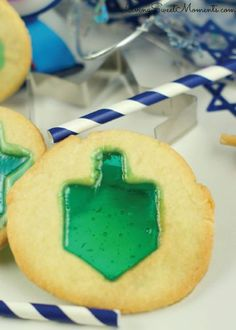 Looking for a tasty, Hanukkah-inspired treat the kids will love? These Stained-Glass Cookies, made with Jolly Rancher candies, are the perfect treat the kiddos can munch on while enjoying a game of spin the dreidel.
