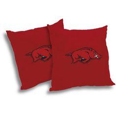 NCAA Arkansas Razorbacks Pillow Set, 2pk