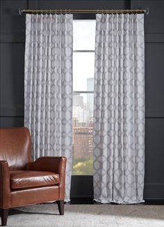 The Spencer Collection: a two-tone hexagonal print embroidered on a neutral ground adds soft pattern/texture to your space. Draperies available in Signature Stores only. Mitchell Gold, Solar Shades, Best Windows, Wood Blinds, Cozy Living Rooms, Southern Living, Textures Patterns, Painting On Wood, Your Space