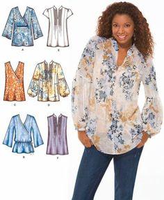 Plus Size Tunika Größen TOP Schnittmuster  Bauer von patterns4you
