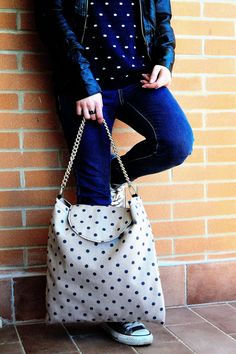 Maxi-bag polka dots. www.vanessavanhandmade.etsy.com