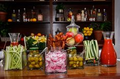 Building your own bloody mary bar by Windows Catering!
