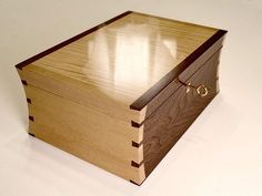 One of Colin's jewellery boxes. A great shellac finish here, which takes real…