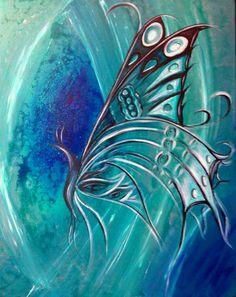 ღ❤️Turquoise lovely color❤️ღ Blue Shades Colors, Shades Of Turquoise, Butterfly Painting, Butterfly Art, Aqua Coral, Teal Blue, Pantone, Abstract Wall Art, Abstract Paintings