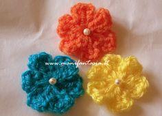 fiori uncinetto lana