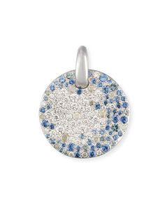 PAF2C Pomellato Sabbia Diamond & Sapphire Pendant in 18K White Gold