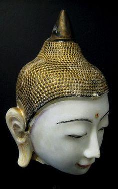 Shan Marble Buddha Head