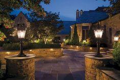 Energie Solaire Star Acier Inoxydable Borne Jardin Lumières Extérieur éclairage patio