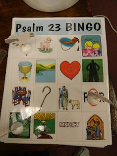 Psalm 23 Bingo idea