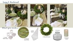 Option wreaths are a Spring staple & we are embracing it's easiness & texture to create a natural looking Easter tablescape. Boxwood Wreath, Wreaths, Cool Tables, Flameless Candles, Tablescapes, Table Settings, Easter, Table Decorations, Natural