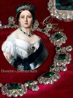 Queen Victoria's diamond and emerald suite with #emerald and diamond #necklace #tiara #brooch and earpendant #Royals #victoriarevealed first time shown from 30th Victoria Revealed runs at #Kensingtonpalace throughout 2018 #royaljewels #history #RoyalFamily #tiaras #diadem #royalmagazin