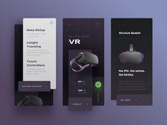 Oculus mobile app concept by Akshay Devazya for osum on Dribbble Web Design, App Ui Design, Mobile App Design, Interface Design, User Interface, Zentangle, Natural Soul, Splash Screen, App Design Inspiration