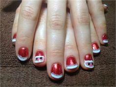 Day 354: Santa & Snowman Nail Art www.nailsmag.com