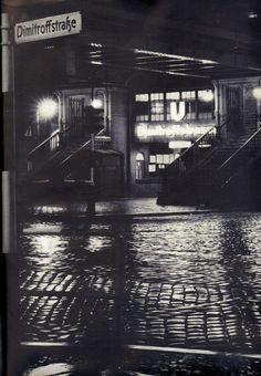 Berlin, Nachtstimmung Prenzlauer Berg, ca 1953.