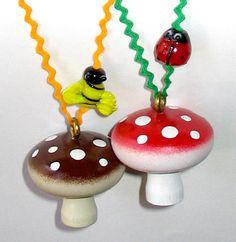 Crazy mushroom necklaces