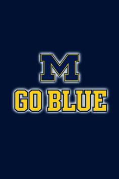 Michigan Go Blue iPhone Wallpaper