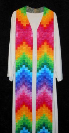 Rainbow stole