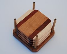 Exotic Wood Coasters by tattletaleboutique on Etsy, $21.00
