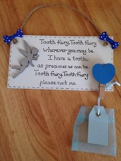 Tooth Fairy Plaque With Fairy Collection Bag For by ElegantFancies