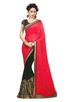 Red Marble Wedding Saree