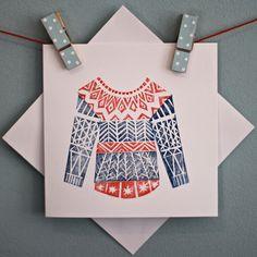 Jersey navideño texturado