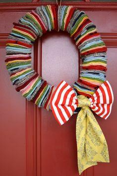 kojotutorial: ROY G BIV wreath