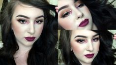 Burnt Orange Eyes & Pop Of Rose Pigment | Cranberry Lips!