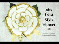 Easy Giant Paper Flower Tutorial - Cora Style Part 1
