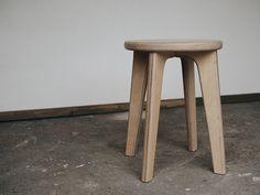Henri-Matias x birch wood stool. Handmade in Finland. Wood Stool, Finland, Birch, Bar Stools, Handmade, Furniture, Home Decor, Bar Stool Sports, Hand Made