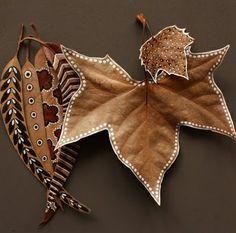 folhas decoradas