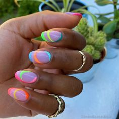 Dream Nails, Love Nails, Pretty Nails, Neon Nails, Swag Nails, Nail Art Instagram, Minimalist Nails, Pin On, Best Acrylic Nails