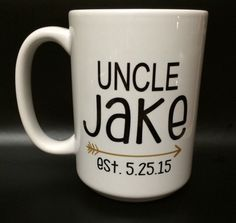 Uncle Mug. Personalized with Name and Date or Est by embeemugs