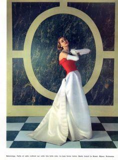 Balenciaga 1955 Evening Gown Scemama Jewels